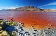 Le Lac Rouge en Bolivie.