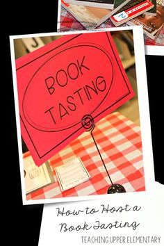 If you haven't held a book tasting for your students then you need to plan one now! This event was simple to plan and had great payoffs! My students were so excited and engaged, it was an event that made my teacher heart burst! Step by step directions on the blog!