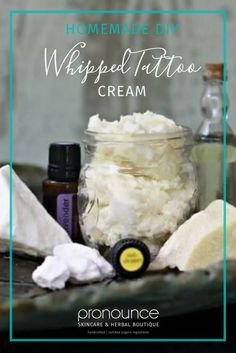 DIY Whipped Tattoo Cream (Heals my New Tattoos) • pronounceskincare.com