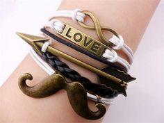 For the Love of Mustache bracelet