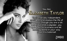 I'm Elizabeth Taylor. Which classic Hollywood actress are you? - Quiz