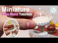 DIY Miniature Doll Cake Stand | Polymer Clay Tutorial | Dollhouse DIY - YouTube