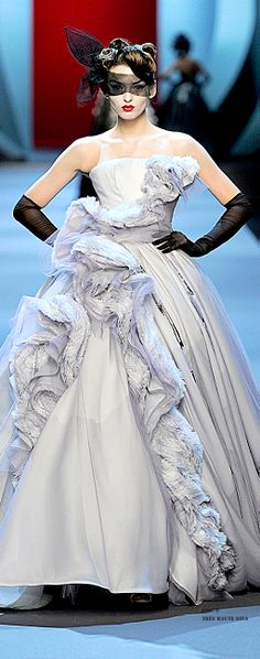 Christian Dior Couture. I am thinking about wearing this ensemble to the party. Still deciding.....what do you think??