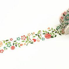 Washi Tape, Flowers Washi Tape, Plants Washi Tape, Beautiful Washi Tape