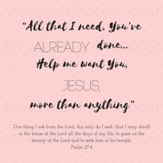 Psalm 27:4 More Than Anything - Natalie Grant