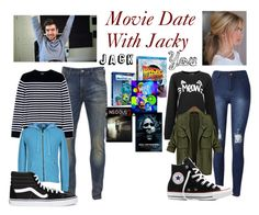 """Movie Date With Jacky"" by amberpamber11 on Polyvore featuring Scotch & Soda, A.P.C., Bark, Vans, Converse and INC International Concepts"