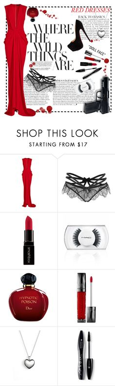 """seduction is the most powerful weapon."" by detta13 ❤ liked on Polyvore featuring Anja, Thakoon, All Black, Agent Provocateur, Smashbox, MAC Cosmetics, Christian Dior, Urban Decay, Christian Louboutin and Pandora"