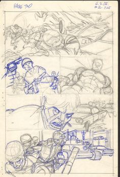 Gil Kane  - Defenders Giant Size #2 pg 02 layouts Comic Art