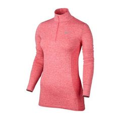 Nike Ladies Dri-Fit Knit 1/2 Zip Long Sleeve Golf Shirts Assorted... ($120) ❤ liked on Polyvore featuring nike and golf shirts