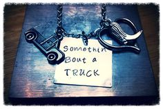 Somethin bout a truck hand stamped by TheHiddenGemBoutique on Etsy, $28.50