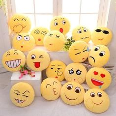 Where to buy emoji pillows? NewChic offer quality emoji pillows at wholesale prices. Shop cool personalized emoji pillows with unbelievable discounts. Bed Cushions, Sofa Pillows, Throw Pillows, Sofa Bed, Cushion Pillow, Car Sofa, Outdoor Cushions, Whatsapp Smiley, Whatsapp Dp