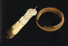 Mixtec Gold Artifacts Feather & Diadem Mexico