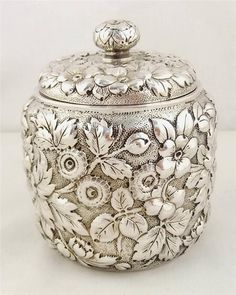 American sterling silver caddy by Theodore B Starr New York c1880