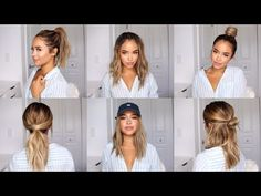 CUTE AND EASY HAIRSTYLE IDEAS FOR SCHOOL! | Maria Bethany - YouTube