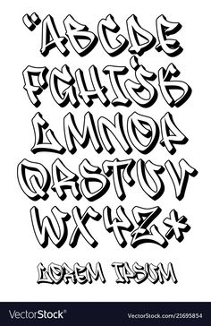Tattoo Lettering Alphabet, Tattoo Lettering Styles, Chicano Lettering, Doodle Lettering, Doodle Fonts, Calligraphy Alphabet, Islamic Calligraphy, Doodle Art, Free Graffiti Fonts