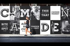 Saved by MindSpárkle Magazine (mindsparklemagazine). Discover more of the best Design, Camden, Branding, Corporate, and Black inspiration on Designspiration Camden, Hoarding Design, Alsace Lorraine, Monospace, Billboard Design, Environmental Graphics, Environmental Design, Wayfinding Signage, Branding Agency
