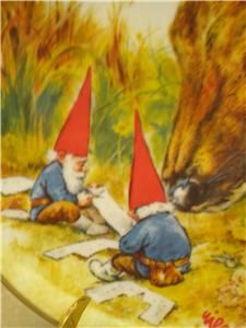 "rien poortvliet | Rien Poortvliet ""Gnome Made"" Collector Plate Gnomes Four Seasons ..."
