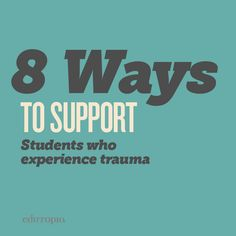 The impacts of trauma can be far-reaching, long-lasting, and impact students' ability to access their education. There are small ways, however, that we can make our classrooms more friendly and supportive to students mangaging the impacts of trauma.