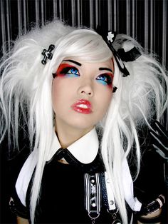 Amelia!  Check out her Crazy Contact Lenses!   I buy mine at: http://www.fantasmagoria.eu/accessories/cosmetics-makeup/contact-lenses