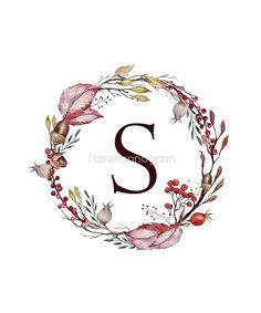 Letter M Discover Monogram B Autumn Flowers And Folliage Sticker by floralmonogram Monogram Wallpaper, Alphabet Wallpaper, Name Wallpaper, S Monogram, Monogram Shirts, Love Heart Images, Flower Letters, Soul Art, Cool Stickers