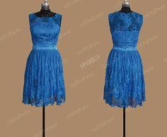 lace bridesmaid dress royal blue bridesmaid dress by sofitdress, $119.00