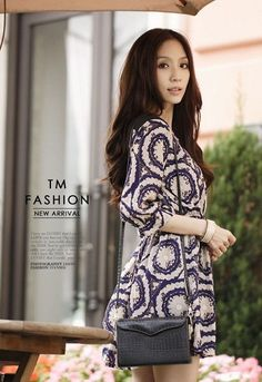 Baju Import Dress DS3143-Blue
