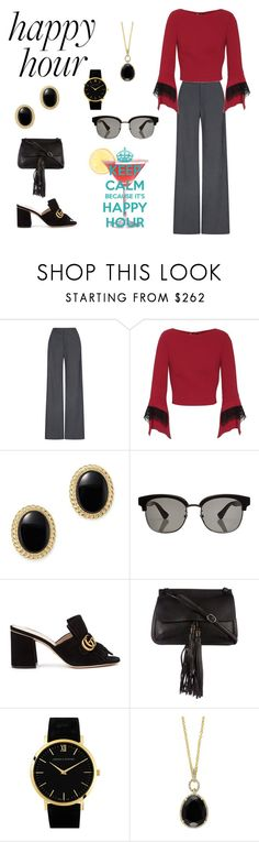 """Keep Calm (contest)"" by scolab ❤ liked on Polyvore featuring Johanna Ortiz, Roland Mouret, Bloomingdale's, Gucci, Larsson & Jennings and Effy Jewelry"