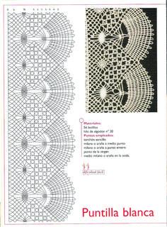 Archivo de álbumes Crochet Borders, Crochet Motif, Crochet Lace, Bobbin Lace Patterns, Crochet Stitches Patterns, Bobbin Lacemaking, Lace Art, Hairpin Lace, Lace Jewelry