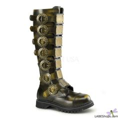 Steampunk Mens Leather Boots