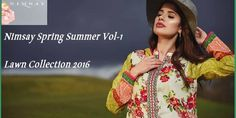 Nimsay Spring Summer Vol-1 Lawn Collection 2016 http://www.womenclub.pk/nimsay-spring-summer-vol-1-lawn-collection-2016.html #Nimsay #LawnCollection