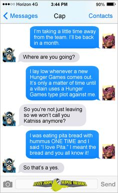 They would. Texts From Superheroes is run by internet comedian Diana...
