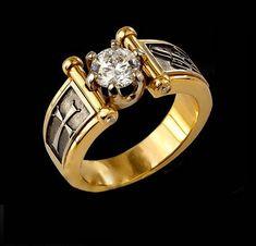 Мужское кольцо пробы 585/750 - Бриллиант от 0.5 карат  - от 5 мм.диаметр,с любыми характеристиками.  1/1-2/2-3/3-4/4-5/5-6/6 и т.д