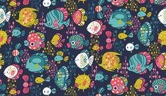 Funny Fish pattern via katuno.com