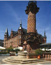 The city where I met my honey:-) Market Square , Wiesbaden Germany