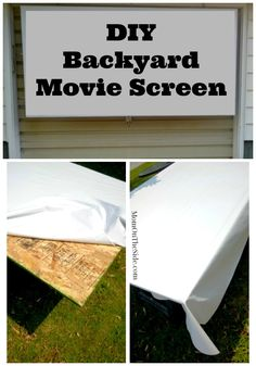 Easy DIY Movie Screen For Backyard Movie Nights! Two Simple Products And  You Will Have