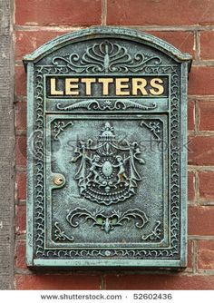 old fashioned letter box in amsterdam green vintage letterbox