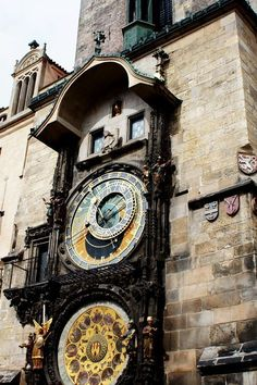 Astronomical Clock Prague Czech Republic. 101 Europe travel bucket list.  Things to do in Europe.