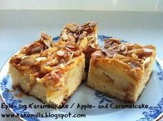 Kakemilla: Eple- og Karamellkake / Apple- and Caramelcake Deserts, Pie, Baking, Food, Sheet Cakes, Pinkie Pie, Bread Making, Patisserie, Fruit Flan