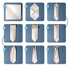 Scrappin' Patch Scrapbook Supplies NZ: Step By Step - Origami Tie - Mi Bog De Regalos De Bricolaje 2019 Diy Origami, Origami Shirt, Origami Dress, Money Origami, Useful Origami, Origami Paper, Napkin Origami, Oragami, Origami Step By Step