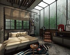"Check out new work on my @Behance portfolio: ""Industrial modern master bedroom design"" http://on.be.net/1LUl5Vh"
