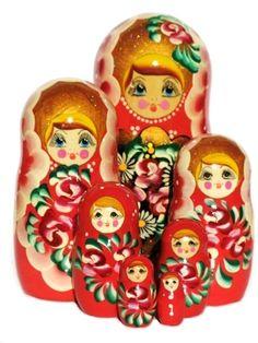 Russian Nesting Dolls Rosanna - 7 Piece - GreatRussianGifts.com