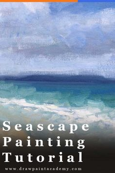 Seascape Painting Tutorial Learn How To Paint This Simple Tasmanian Seascape Seascape Painting Tutorial Tasmania Seascape In Oils Seascape Inspiration Oil Painting Tips For Beginners Via Draw Paint Academy Simple Oil Painting, Oil Painting Tips, Oil Painting For Beginners, Acrylic Painting Lessons, Acrylic Painting Techniques, Painting Videos, Painting Canvas, Painting Classes, Watercolor Painting
