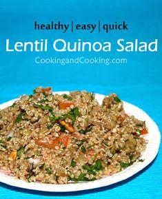 Lentil Quinoa Salad Recipe Lentil Quinoa Salad, Quinoa Salad Recipes, Easy Salad Recipes, Easy Salads, Good Healthy Recipes, Sweets Recipes, Healthy Snacks, Traditional Easter Desserts, Best Comfort Food