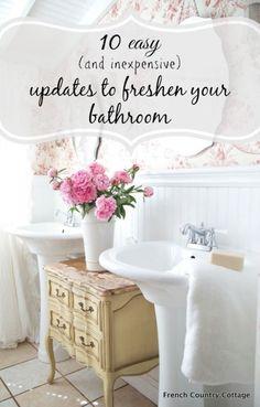 10 easy updates to make in your bathroom today | eBay home bathroom decor idea diy