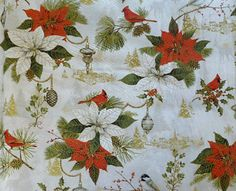 Christmas, Pointsettias, Cardinals, Woodland Christmas by Red RoosterHC170