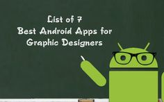 There are many #android #apps that are helpful for all professional #web #designers. I have updated here a list of 7 #best android apps for graphic designers