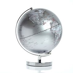 """A friend of mine recenlty asked me where she could find one of these in black, this Globe Light is 12"""" and silver."""