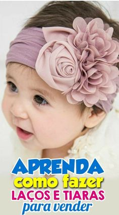 ■ Clique no PIN e DESCUBRA passo a passo como você pode trabalhar em casa fazendo laços e tiaras Fabric Flower Headbands, Baby Girl Headbands, Fabric Flowers, Diy Hair Bows, Diy Bow, Baby Girl Hair Accessories, Baby Bibs Patterns, Baby Turban, Foto Baby