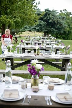 Nikki - remember when you wanted a picnic wedding reception? this would have been perfect