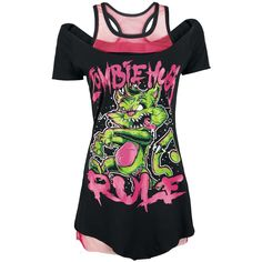 CUPCAKE CULT - ZOMBIE RULES TOP (S) 43€